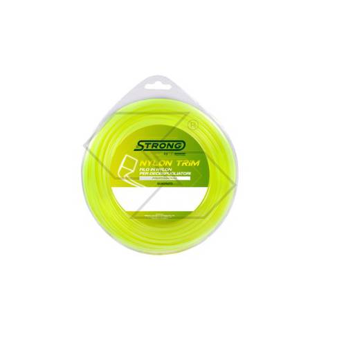 Strong Nylon Square Wire for Brushcutter 4 mm x 30 m R303621 Sabart