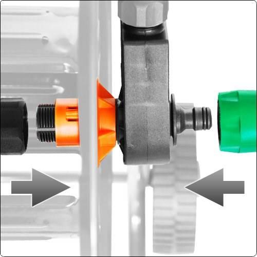 Galvanized hose reel cart 210 Agrati