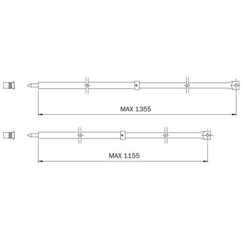 Couple Auctions Telescopic for Locks Triple Perfecta 990063.RB Iseo
