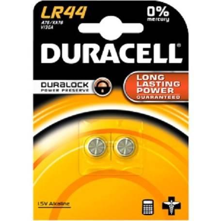 2 LR44 button batteries Duracell
