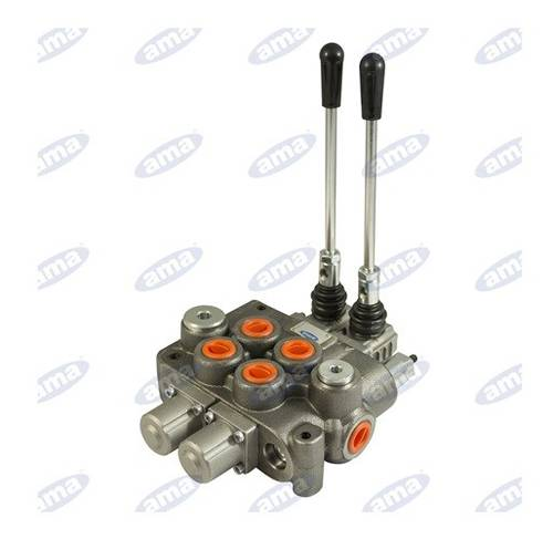 """Hydraulic Distributor with 2 Levers Double Effect """"Basic"""" 3/8 """"Lt. 40 58271 Ama"""