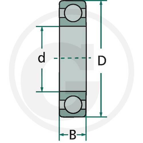 Radial Ball Bearing 6201-2RS Granit