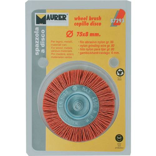Brush Abrasive Nylon Disc mm.75x8 087,293 Maurer