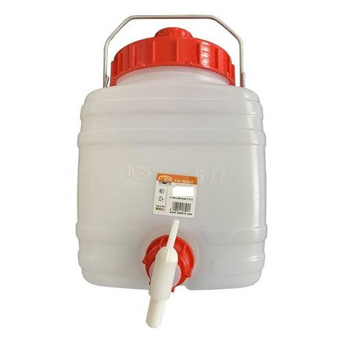 Bottle Bottom Drum Wide Mouth in Plastic with Handle and ICS Tap