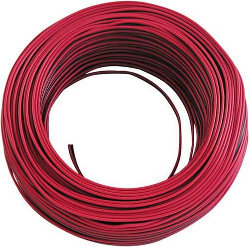 Flat cable Red-Black for Hi-Fi 2x0,75mm 108,973 Maurer