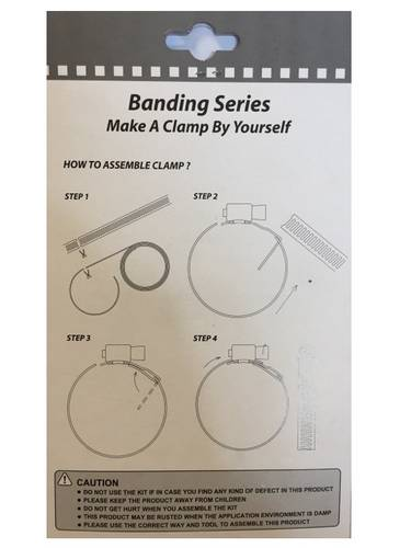 Ribbon Metallic Hose Clamp with Folding Drawer