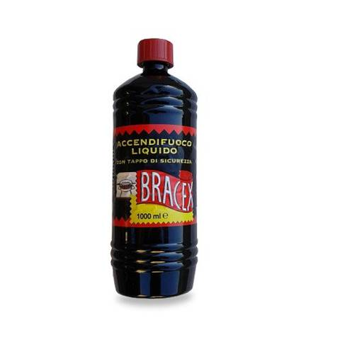 1 Liter Liquid Firelighter for Barbecue Stoves and Fireplaces Bracex