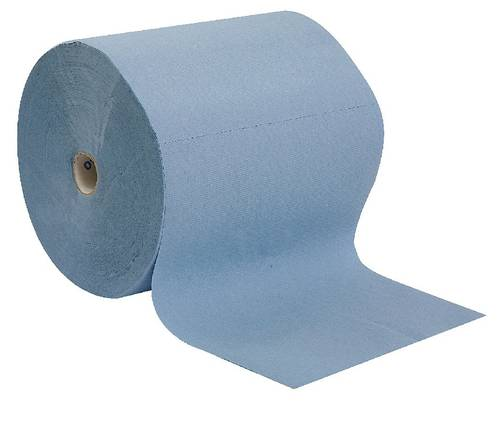 Blue Industrial Paper Roll Reel 3 Pure Cellulose Veils