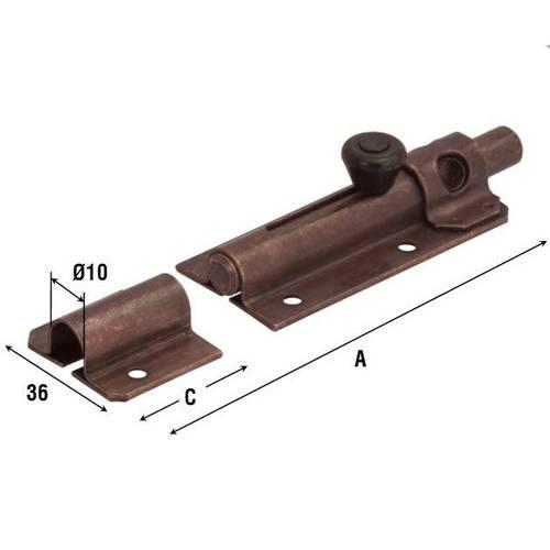 Bolt-holder Steel Bronzed Auction Round Art.248