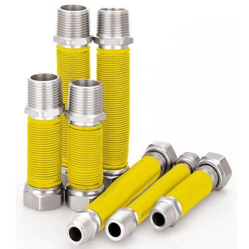 """Steel pipe Flexible Extensible 1/2 """"Gas 100-200mm Art.5870B"""