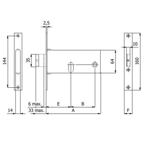 Reversible lock for bands 780 Omec