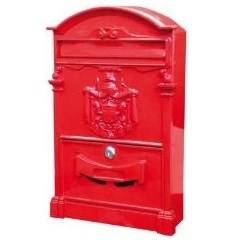 Mailbox Artistic Red Steel