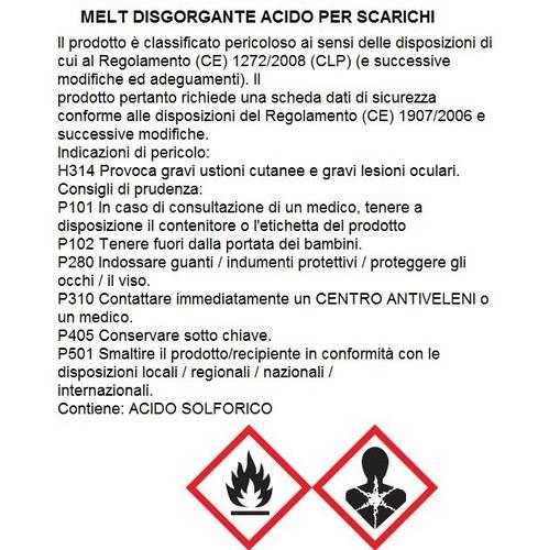 Disgorgante per Tubature Melt 750 ml Faren