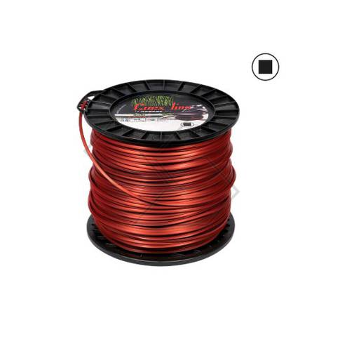 Coil Square Wire 3 mm for Brushcutter 221m 2,2kg COEX VALVA R302566 Sabart