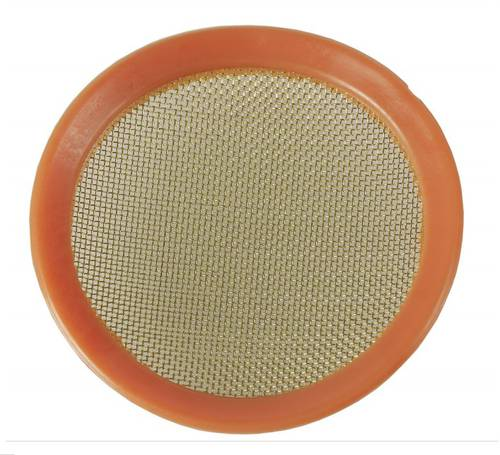 Brass sieve for funnels in metal and polyethylene