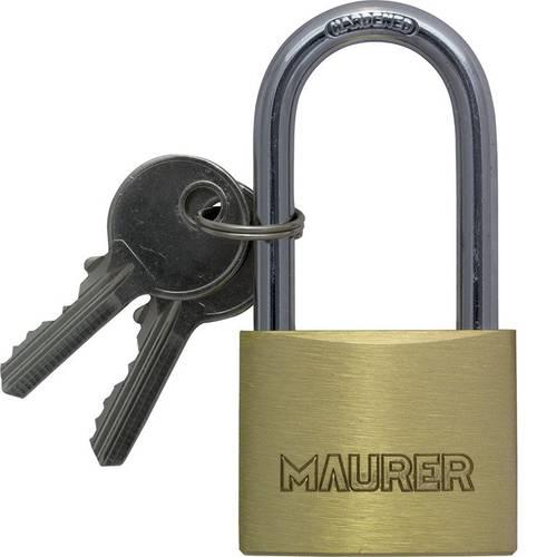 Rectangular Lock in Brass 30mm Maurer