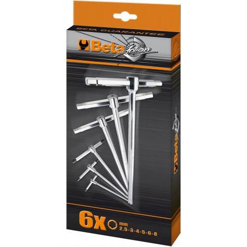 Series 6 Keys with T Three End Male Hex Chrome 951 / S6 Beta