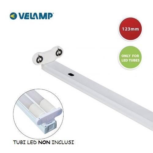 Plafoniera per Tubi Led T8 da 120cm PI20236 Velamp