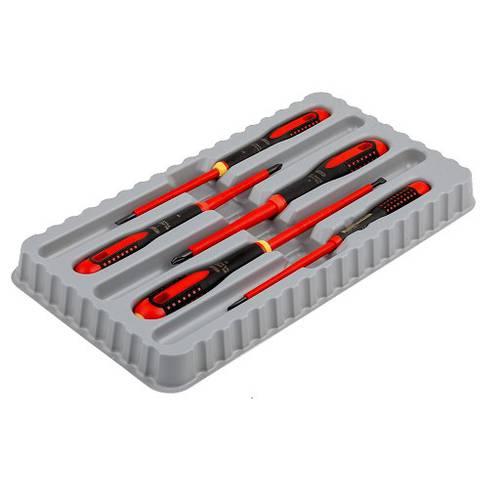 Assortment Set 5 pcs ERGO Screwdriver Insulated Thin Blade BE-9881SL Bahco