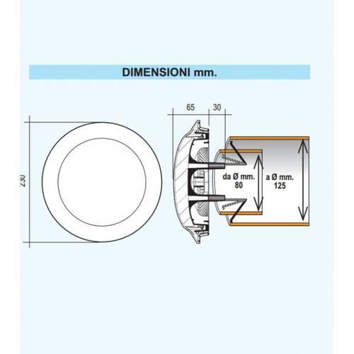 "Reducer Acoustic ""UFO"" for Ventilation Holes"