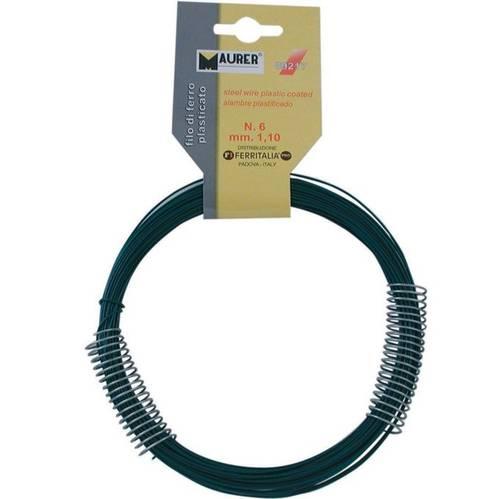 Hank Wire Iron Plastificato Green Maurer