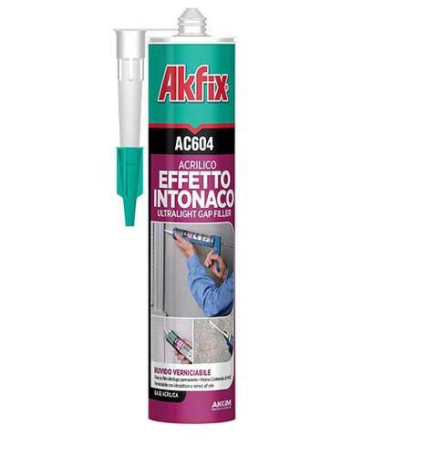 Silicone White Acrylic Sealant Plaster Effect Joints Cracks Cracks 310ml AC604 Akfix