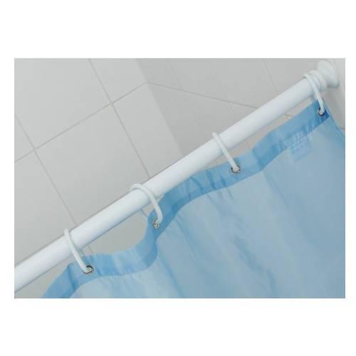 White Aluminum Saniplast Shower Curtain Tube-1