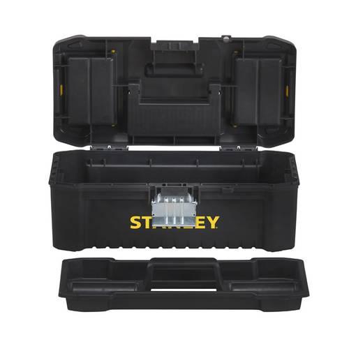 Essential Tools Tool Box with Stanley Metal Hinges