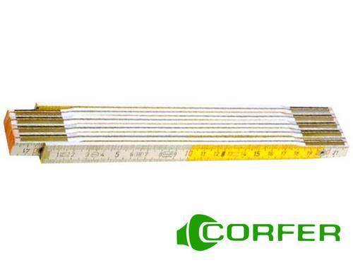 Double Folding Wooden Meter 2 mt Corfer