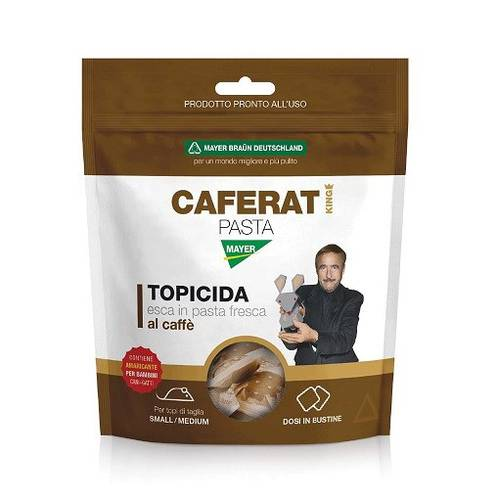Bait Topicide Poison for Mice in Coffee Paste CAFERAT PASTA KING 150g Mayer Braun