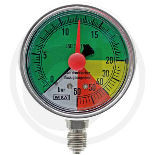 "Pressure gauge with glycerin 0-20-40-60 bar 1/4 ""67001-00005 Wika"