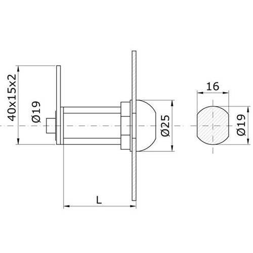 Locks Cylinder ø19 art.150 IBFM