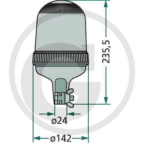 Girofaro LED 12 / 24V Granite 70,799,507