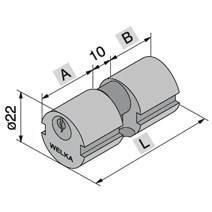 Brass cylinder Round ø22mm 607.22.22.0 Welka