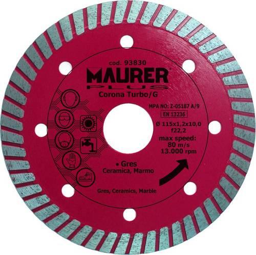 Diamond Disc for Porcelain Stoneware 115x1,2mm 093830 Maurer