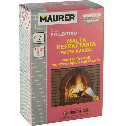 Refractory mortar Presa Quick Kg.1 Maurer Edilbriko 098,799