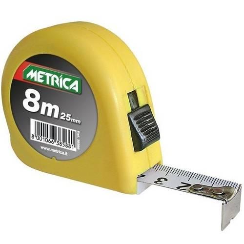 Yellow tape measure 8m 38588 Metric