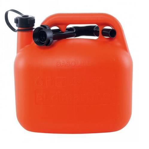 Plastic Fuel Can 5 Liter with Spout 7021 Di Martino