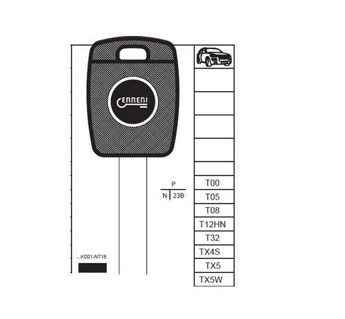 Honda Auto Key Without Transponder T00GB18P Errebi
