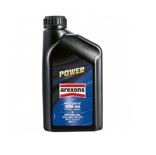 Multigrade Additive Engine Oil 15W-40 POWER 1 lt 9385 Arexons9