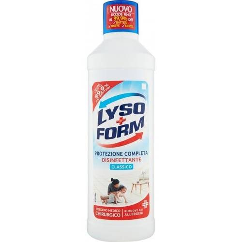 Lysoform Disinfectant Detergent for Floors and Surfaces 900 ml Antibacterial Action