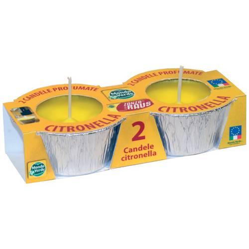 2 candles in foil Lemongrass cm.8