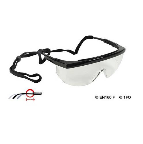 Protective Glasses Transparent Lenses in Polycarbonate Extendable Arms 88339 Maurer