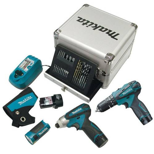 Drill Kit Makita screwdriver DK1485X3 + 3 Batteries Torch, and Valig.