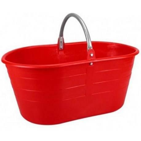 Oval basket with handle 25 liters Iron Stefanplast 39250
