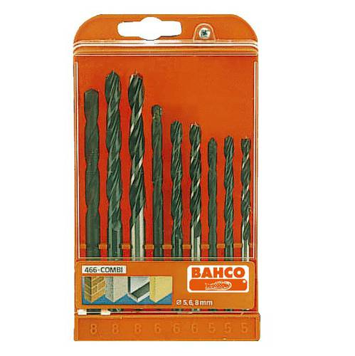 Assortment Series 9 Drill bits for Helical Wall Masonry DIN338 HSS 466-COMBI Bahco