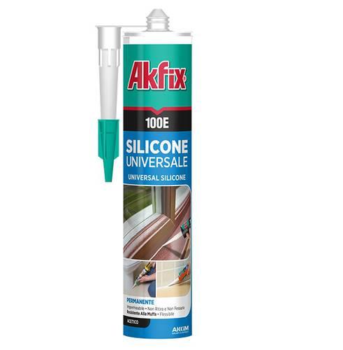 White Universal Acetic Silicone 280 ml 100E Akfix