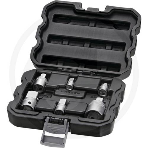 """Set 6pcs 1/4 """"+3/8"""" +1/2 """"Adapters for Ratchet Wrenches 7301007 Granit"""