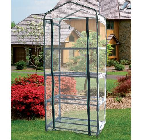 Greenhouse with PVC cover 4 shelves Papillon 094290