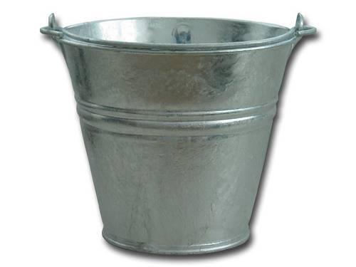 Galvanized sheet bucket with handle